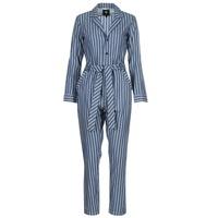 vaatteet Naiset Jumpsuits / Haalarit G-Star Raw DELINE JUMPSUIT WMN L/S Blue / White
