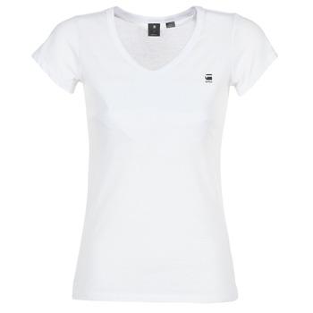 vaatteet Naiset Lyhythihainen t-paita G-Star Raw EYBEN SLIM V T WMN S/S White