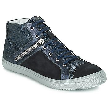 kengät Tytöt Bootsit GBB KAMI Black / Blue