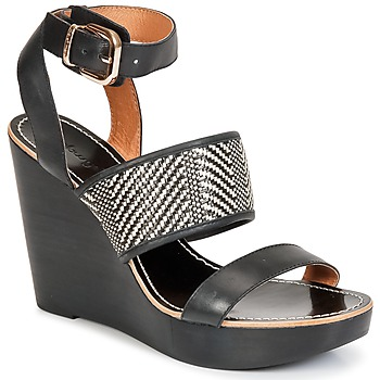 kengät Naiset Sandaalit ja avokkaat Mellow Yellow SAUBELLE Black