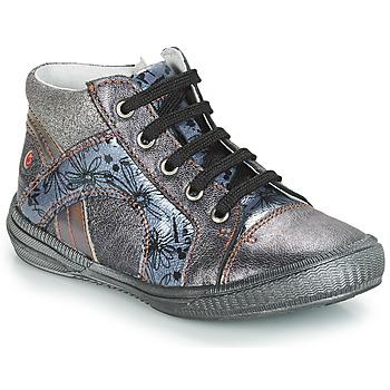 kengät Tytöt Korkeavartiset tennarit GBB ROSETTA Grey / Blue