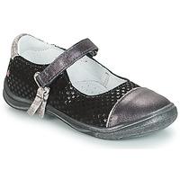kengät Tytöt Balleriinat GBB RIKA Grey / Black
