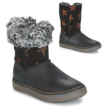 kengät Tytöt Saappaat GBB DUBROVNIK Black / Grey