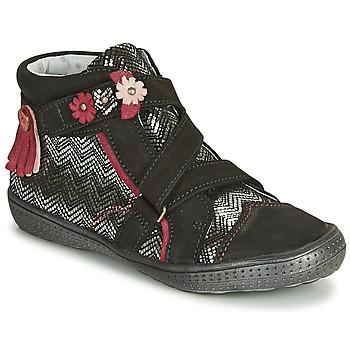 kengät Tytöt Bootsit Catimini ROQUETTE Black / Hopea