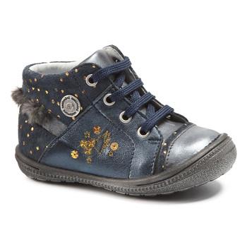 kengät Tytöt Bootsit Catimini RIKI Sininen-pilkullinen / Kulta / Dpf / 2822