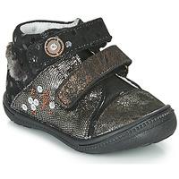 kengät Tytöt Bootsit Catimini ROSSIGNOL Black / Kulta