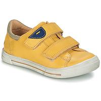 kengät Pojat Bootsit GBB SEBASTIEN Yellow / Dpf / Musta / valkoinen / kulta