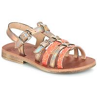 kengät Tytöt Sandaalit ja avokkaat GBB BANGKOK Pink / Metal-fluo / Dpf / Coca