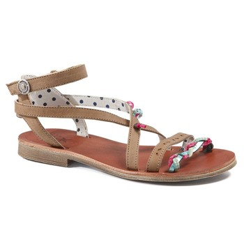 kengät Tytöt Sandaalit ja avokkaat Catimini SAPHIR Ruskea-turkoosi / Dpf / Coca