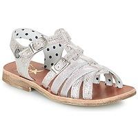 kengät Tytöt Sandaalit ja avokkaat Catimini SAULE Hopea / Vaaleanpunainen