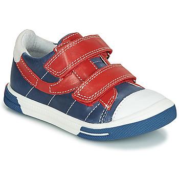kengät Pojat Matalavartiset tennarit Catimini SORBIER Blue / Red