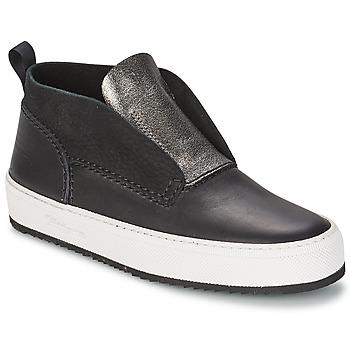 kengät Naiset Korkeavartiset tennarit Barleycorn CLASSIC Black
