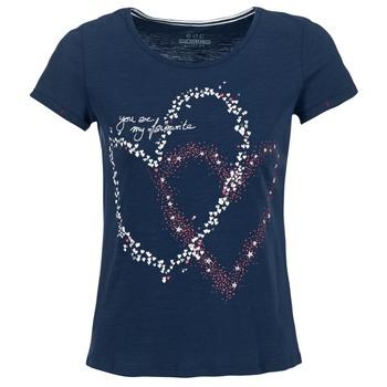 vaatteet Naiset Lyhythihainen t-paita Esprit WEJA Laivastonsininen