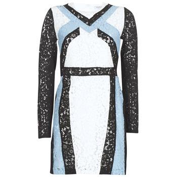 vaatteet Naiset Lyhyt mekko Morgan RLIXI White / Black / Blue
