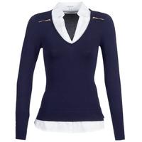 vaatteet Naiset Neulepusero Morgan MYLORD Blue / White