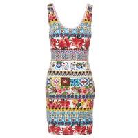 vaatteet Naiset Lyhyt mekko Desigual OCONDE Multicolour