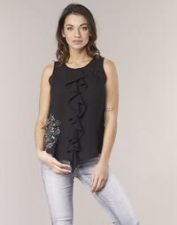 vaatteet Naiset Hihattomat paidat / Hihattomat t-paidat Desigual POALDAOR Black