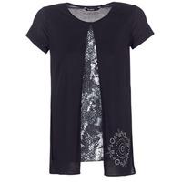 vaatteet Naiset Lyhythihainen t-paita Desigual NUTILAD Musta