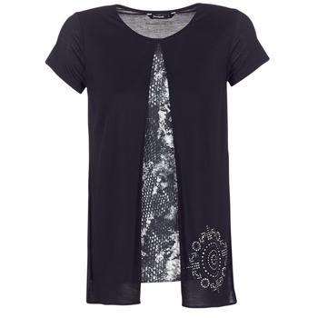 vaatteet Naiset Lyhythihainen t-paita Desigual NUTILAD Black