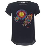 vaatteet Naiset Lyhythihainen t-paita Desigual NAIKLE Black