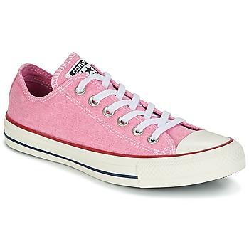 kengät Naiset Matalavartiset tennarit Converse Chuck Taylor All Star Ox Stone Wash Pink