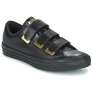 kengät Naiset Matalavartiset tennarit Converse Chuck Taylor All Star 3V Ox SL + Hardware Black / Dore