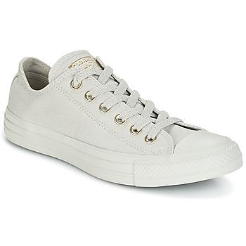 kengät Naiset Matalavartiset tennarit Converse Chuck Taylor All Star Ox Mono Glam Canvas Color Grey