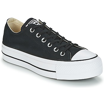kengät Naiset Matalavartiset tennarit Converse Chuck Taylor All Star Lift Clean Ox Core Canvas Black