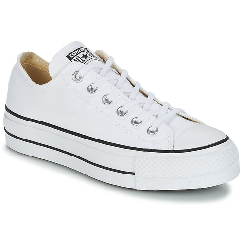 kengät Naiset Matalavartiset tennarit Converse Chuck Taylor All Star Lift  Clean Ox Core Canvas White 2057c7757c