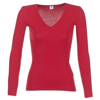 vaatteet Naiset T-paidat pitkillä hihoilla Petit Bateau  Red