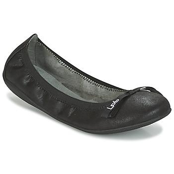 kengät Naiset Balleriinat LPB Woman ELLA VELOUR Black
