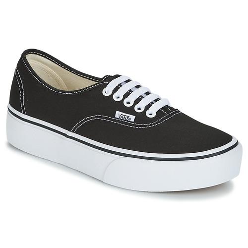 kengät Naiset Matalavartiset tennarit Vans AUTHENTIC Black