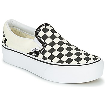 kengät Naiset Tennarit Vans SLIP-ON PLATFORM Black / White