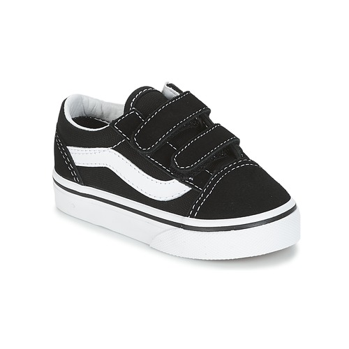kengät Lapset Matalavartiset tennarit Vans OLD SKOOL V Black