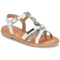kengät Tytöt Sandaalit ja avokkaat Les Tropéziennes par M Belarbi BADAMI White / Silver