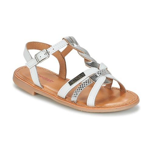 kengät Tytöt Sandaalit ja avokkaat Les Tropéziennes par M Belarbi BADAMI White / Hopea