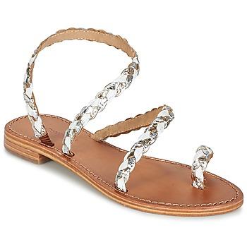 kengät Naiset Sandaalit ja avokkaat Les Tropéziennes par M Belarbi BALI White / Gold