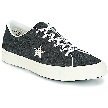 kengät Naiset Matalavartiset tennarit Converse One Star-Ox Black