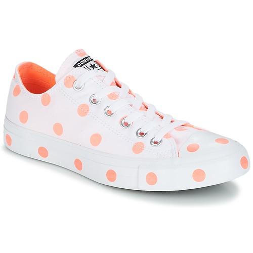 sale retailer 12c6a 2380f kengät Naiset Matalavartiset tennarit Converse Chuck Taylor All Star-Ox  White   Orange