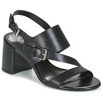 kengät Naiset Sandaalit ja avokkaat Lauren Ralph Lauren FLORIN Musta