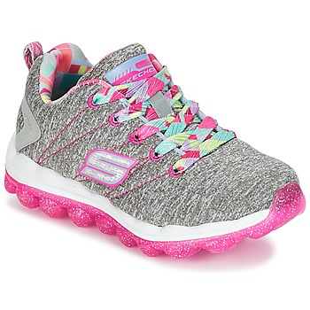 kengät Tytöt Matalavartiset tennarit Skechers SKECH-AIR Grey / Pink