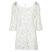 vaatteet Naiset Lyhyt mekko Banana Moon MAGBY DREAMLAND White