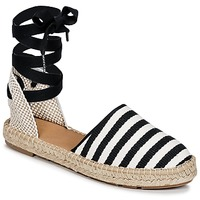 kengät Naiset Espadrillot Betty London INANO Black / White