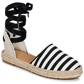 kengät Naiset Espadrillot Betty London INANO Musta / Valkoinen