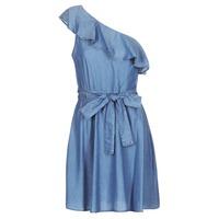 vaatteet Naiset Lyhyt mekko MICHAEL Michael Kors ONE SHLDR RUFFLE DRS Denim