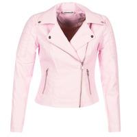 vaatteet Naiset Nahkatakit / Tekonahkatakit Noisy May NMREBEL Pink