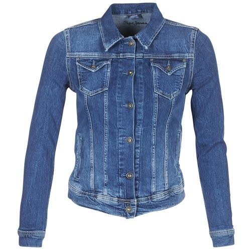 vaatteet Naiset Farkkutakki Pepe jeans THRIFT Sininen