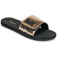 kengät Naiset Rantasandaalit MICHAEL Michael Kors MK SLIDE Black / Gold