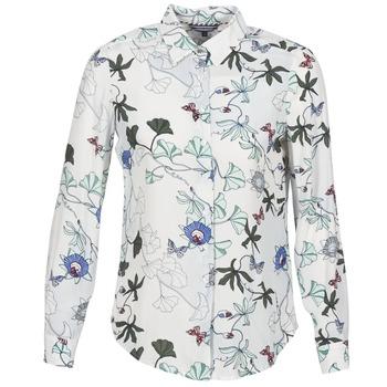vaatteet Naiset Paitapusero / Kauluspaita Tommy Hilfiger MIRAN-SHIRT-LS White