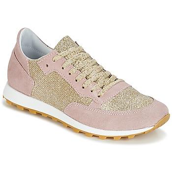 kengät Naiset Matalavartiset tennarit Yurban CROUTA Vaaleanpunainen / Kulta